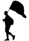Man whit flag three Stock Images