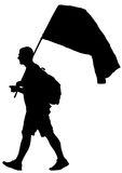 Man whit flag two Royalty Free Stock Photography