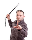 Man whit truncheon Royalty Free Stock Image
