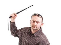 Man whit truncheon Stock Photography