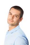 Man on white Royalty Free Stock Photo