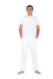 Man in white Royalty Free Stock Images
