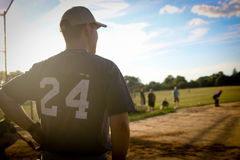 Man in White 24 Printed Black Jersey Top Stock Photos