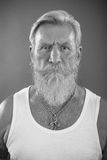 Man with white beard Royalty Free Stock Images