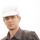 Man in white cap Royalty Free Stock Image