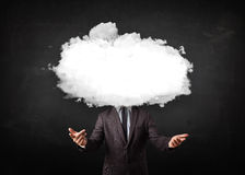 man with white cloud on his head concept Royalty Free Stock Photography