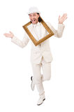 Man in white costume Stock Photography