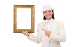 Man in white costume Stock Image