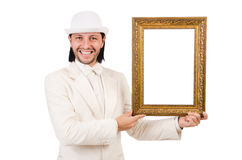 Man in white costume Stock Photos