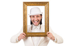 Man in white costume Royalty Free Stock Images