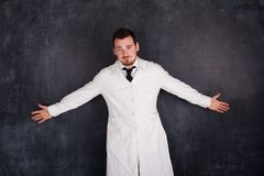 Man in a white gown Royalty Free Stock Image