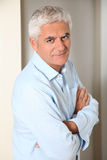 Man with white hair Royalty Free Stock Photography