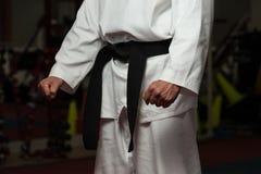 Man In A White Kimono And Belt Stock Photos