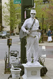 Man In White, Living Statue Royalty Free Stock Photo