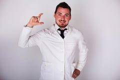 Man in a white robe Stock Photo