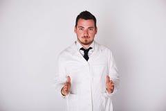 Man in a white robe Royalty Free Stock Photo
