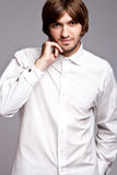 man in white shirt Royalty Free Stock Photography