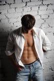 Man in white shirt royalty free stock photos