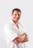 Man in white shirt Royalty Free Stock Images