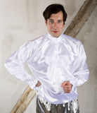 Man in white shirt Stock Photography