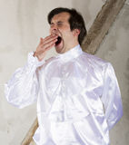 Man in white shirt Stock Images