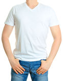 Man in white t-shirt. Stock Images