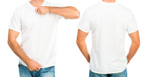 Man in a white T-shirt royalty free stock photography