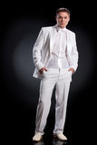 Man In White Tuxedo Stock Photography