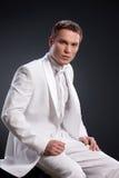 Man In White Tuxedo Royalty Free Stock Photo
