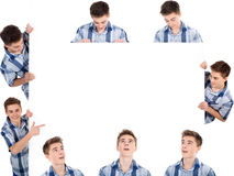 Man and whiteboard Royalty Free Stock Photos