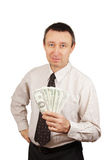 Man whith money Stock Photos