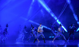 """The man who fought with the waves-Dance drama """"The Dream of Maritime Silk Road"""" Royalty Free Stock Images"""
