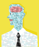 The man who has diamonds brain. The man who has diamonds brain design for idea work Royalty Free Stock Images
