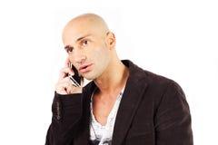 Man who phones Royalty Free Stock Image
