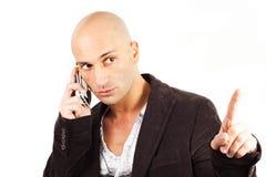 Man who phones Stock Photos