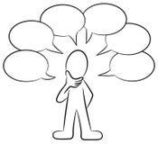 Man who talks al lot. Vector illustration of a man who talks al lot Vector Illustration