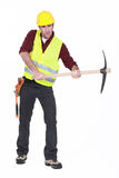 Man wielding axe Royalty Free Stock Photo