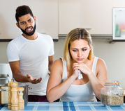 Man and wife having bad argument Stock Images