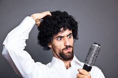 Man with Wig Royalty Free Stock Photos