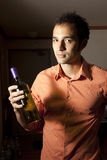 Man and Wine. Royalty Free Stock Photos