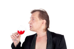 Man and wine Royalty Free Stock Images