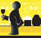 Man and wine Stock Photography