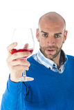 Man with wine Stock Photography