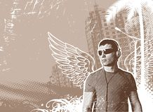 Man with wings Stock Photography