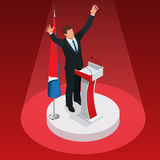The man is the winner in the elections. Presidential Elections.  stock illustration
