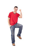 Man winning Stock Image