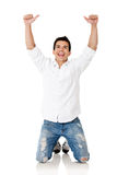Man winning Stock Photography