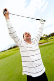 Man winning at golf Royalty Free Stock Photography