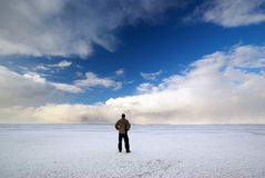 Man and winter Royalty Free Stock Images