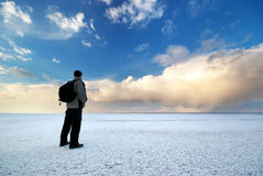 Man and winter Stock Image